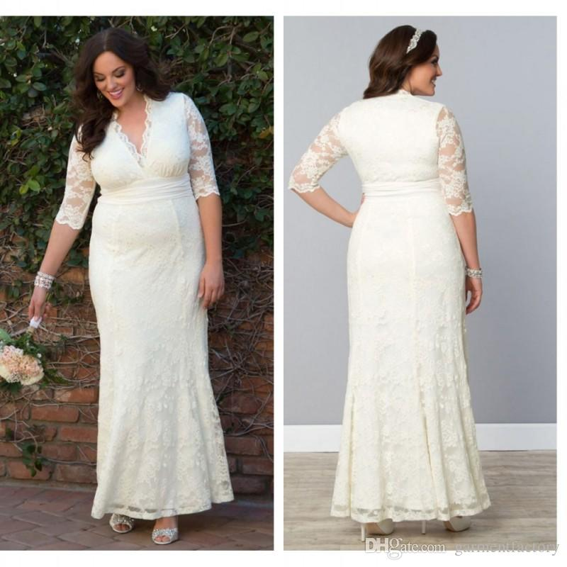 Wedding dresses with sleeves for plus size wedding hub for Plus size wedding dresses with color and sleeves