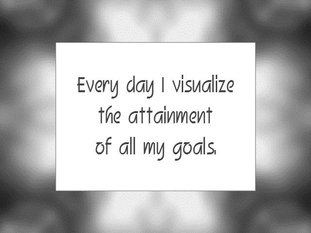VISUALIZATION affirmation