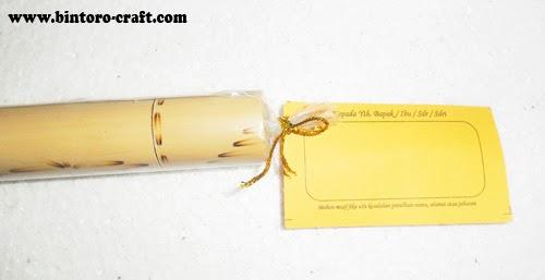 Undangan Model Jenis bambu Gulung Klasik Murah