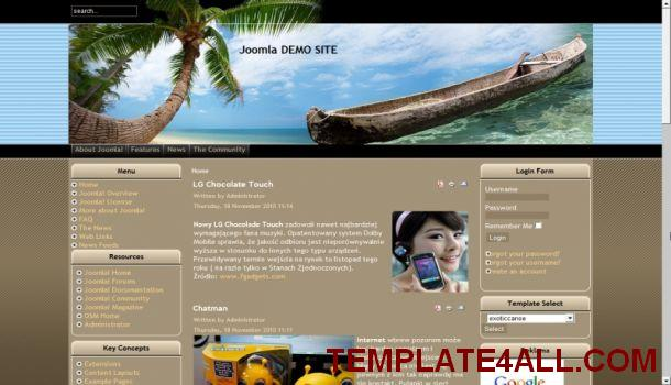 Free Land Exotic Travel Joomla Template