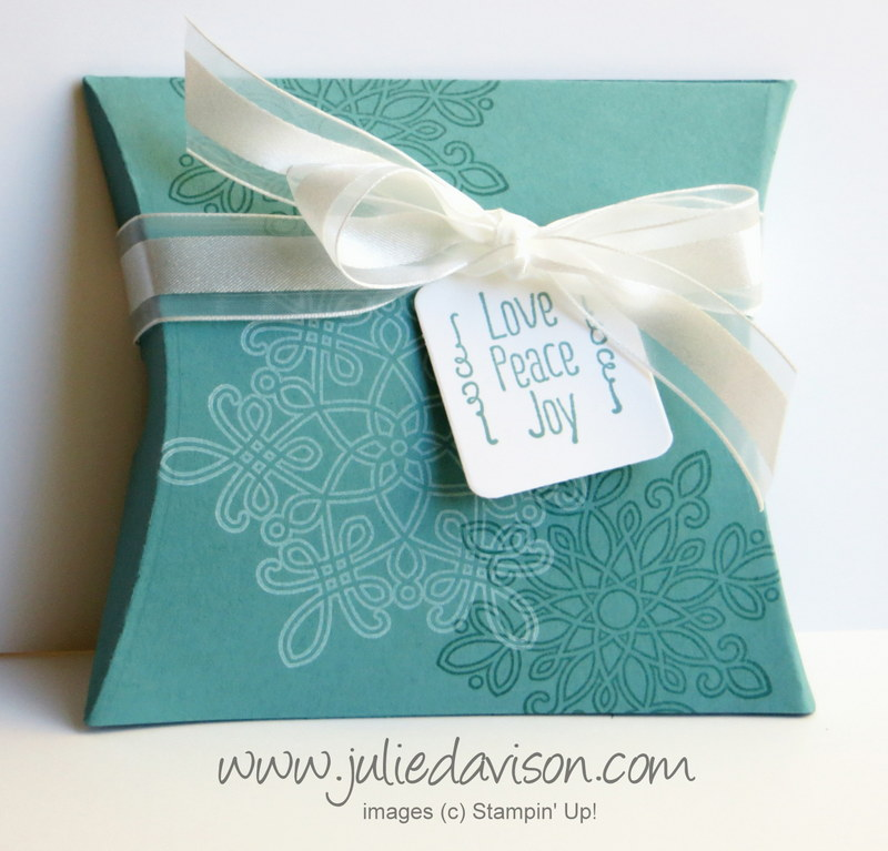 St&in\u0027 Up! Quick Gift Packaging: Snowflake Christmas Square Pillow Box with Flurry of & Julie\u0027s Stamping Spot -- Stampin\u0027 Up! Project Ideas by Julie ... pillowsntoast.com