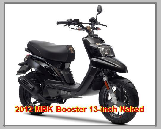 2012 mbk booster 13 inch naked moped scooter insurance motor