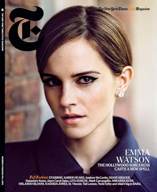 "Emma Watson, Women's Fashion Fall 2012, Style Magazine, Actress, American actress, The New York Times ""T"" Style Magazine, The Perks of Being a Wallflower"