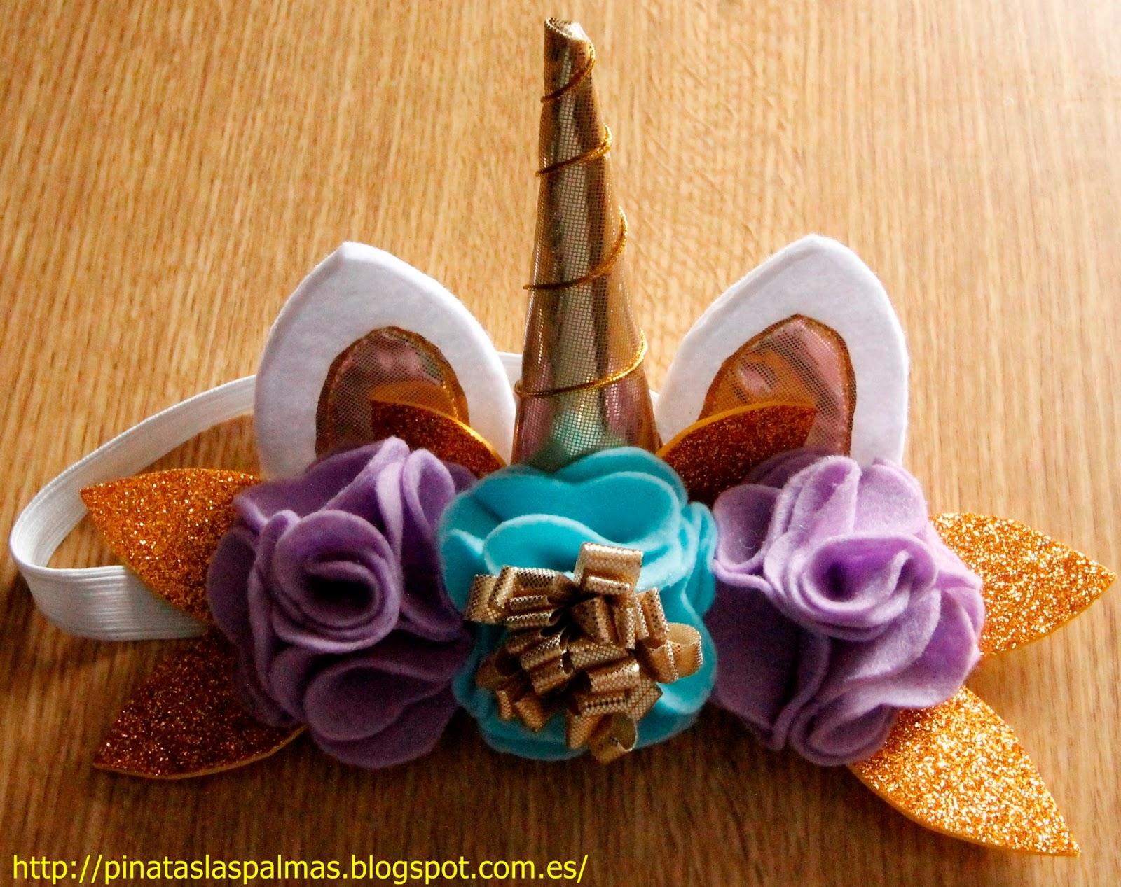 Diademas unicornio - Material para hacer diademas ...