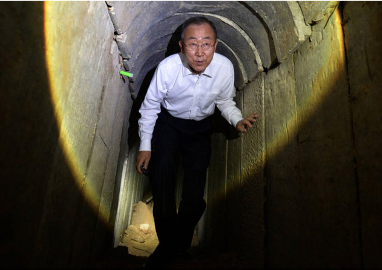 באן קי מון במנהרה
