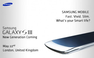 Samsung S III invitation