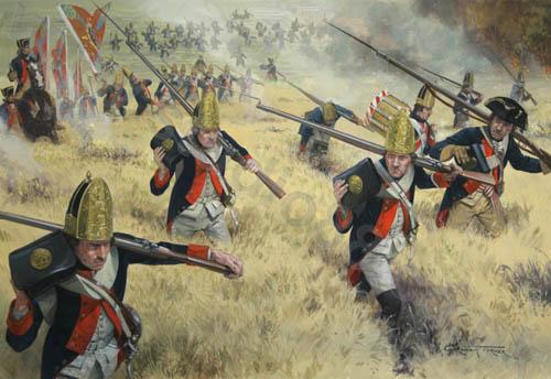 Battle Of White Plains Painting Graham Turner