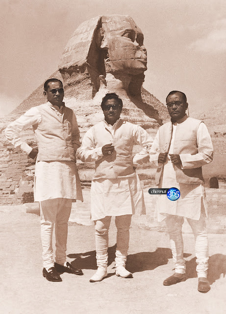 Shivaji Ganesan with his Film Industry Friends in Pyramid, Egypt