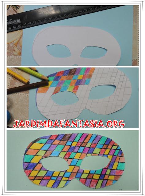 Projeto de Artes Máscara para baile