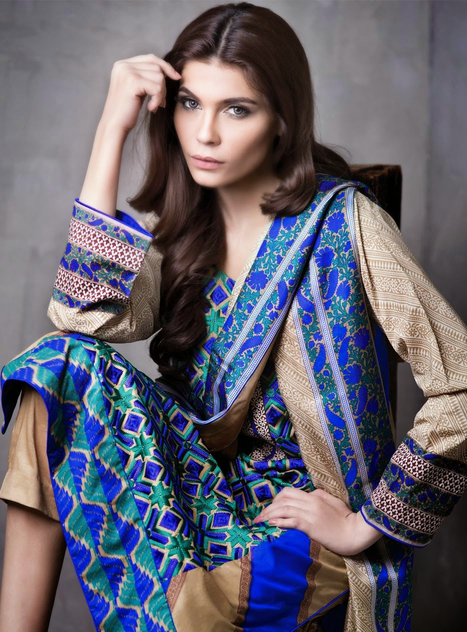Sana safinaz embroidered lawn collection 2015