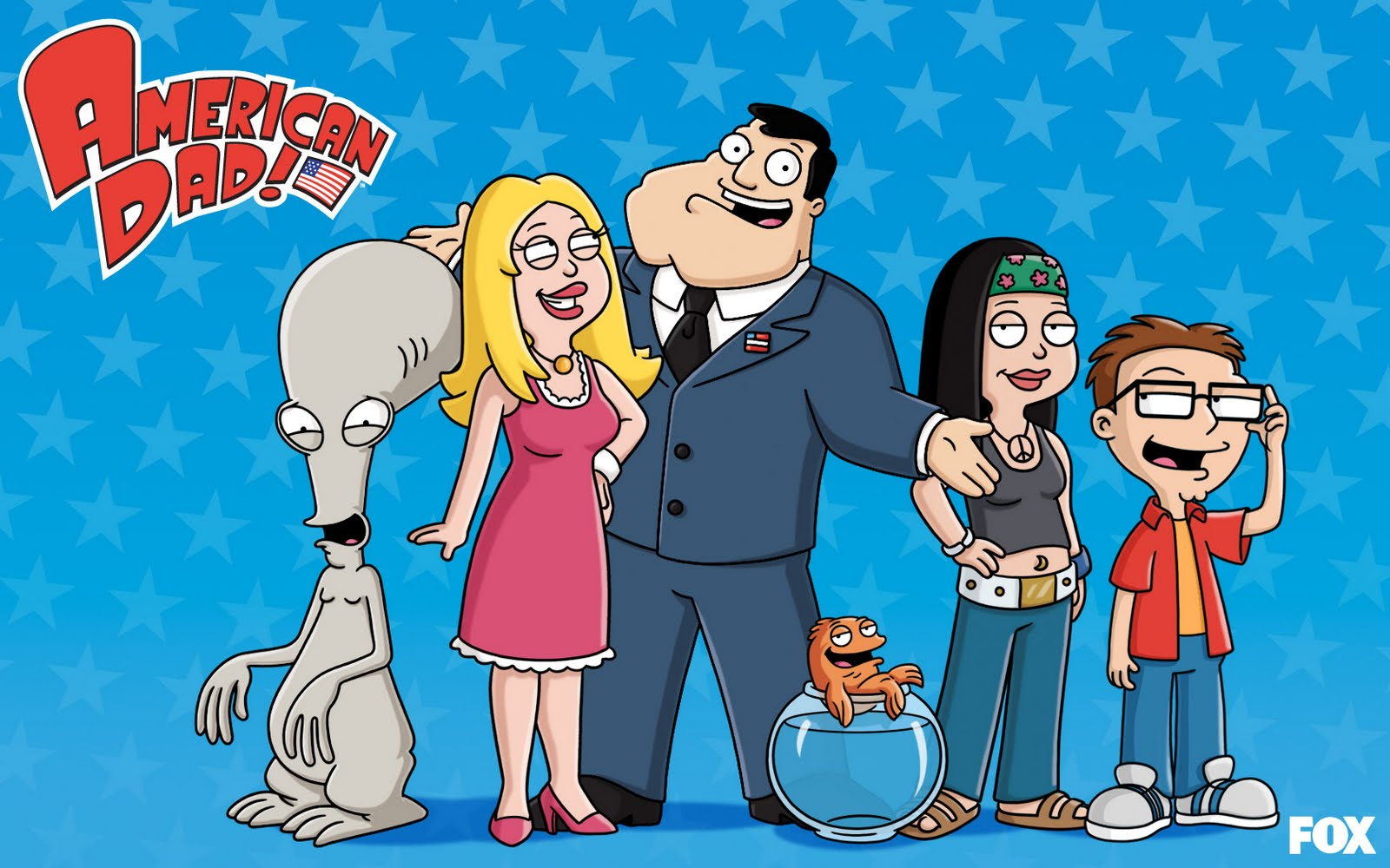 AmericanDad 1680x1050 Family ... your internets shirt to include PORN, so that now it makes more sense: