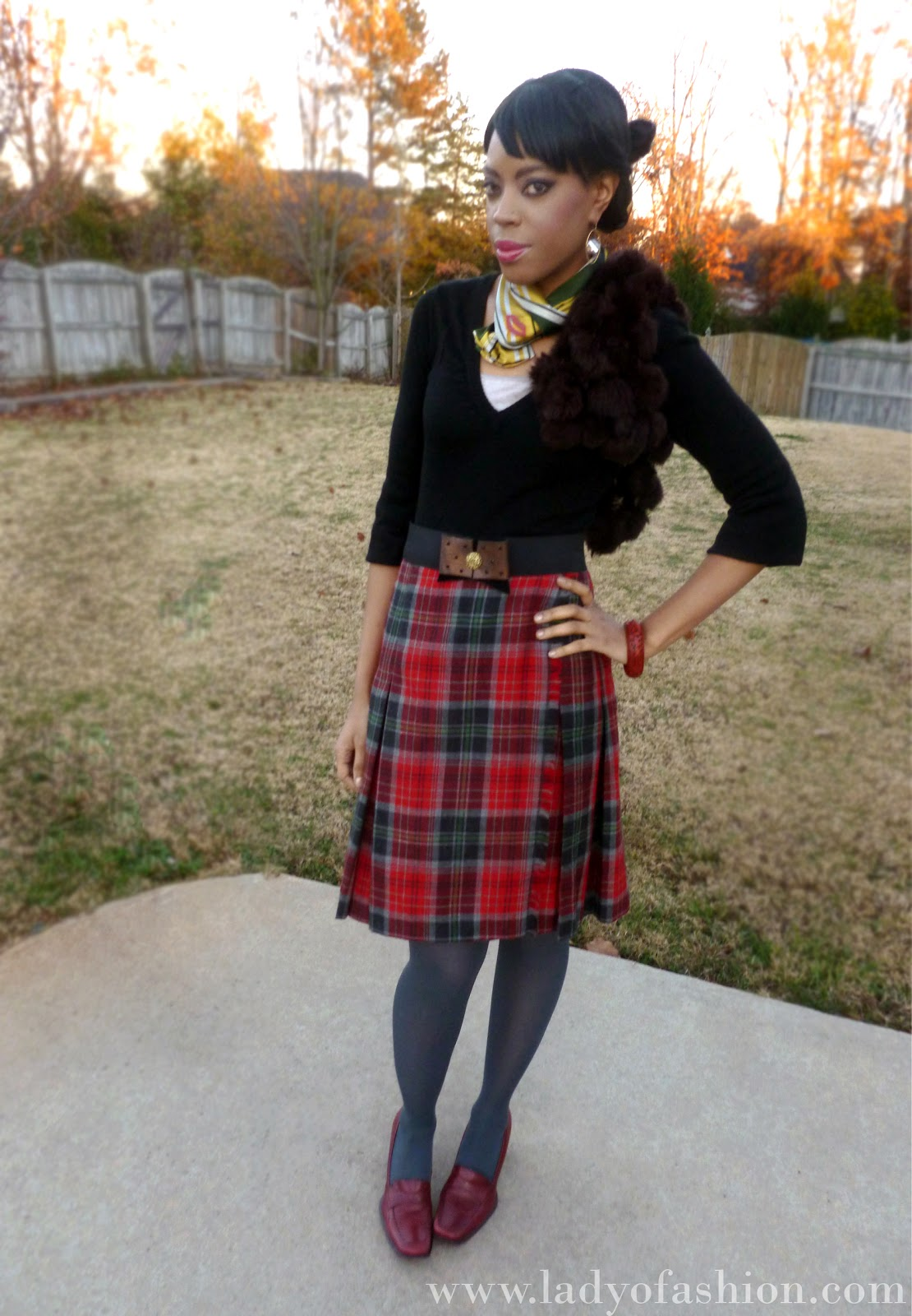 Vintage Tartan skirts Plaid Style Bloggers
