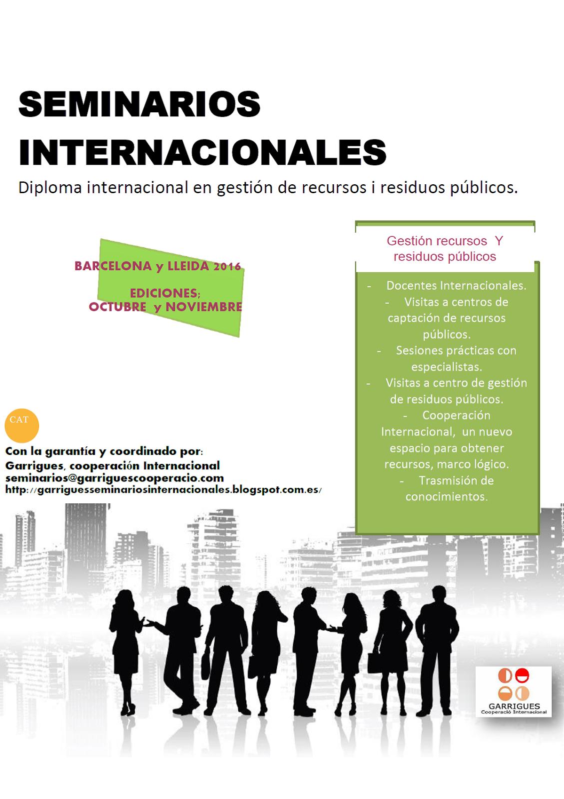 NUMEVOS SEMINARIOS INTERNACIONALES PARA EL 2016