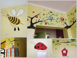 Malowanie na ścianach:)