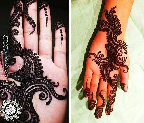 Mehndi Flower Hair : Henna designs tattoo hair dye for