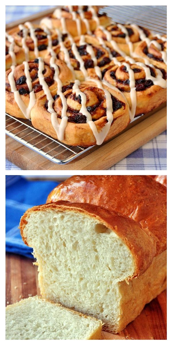 Old Fashioned Cinnamon Rolls & White Bread