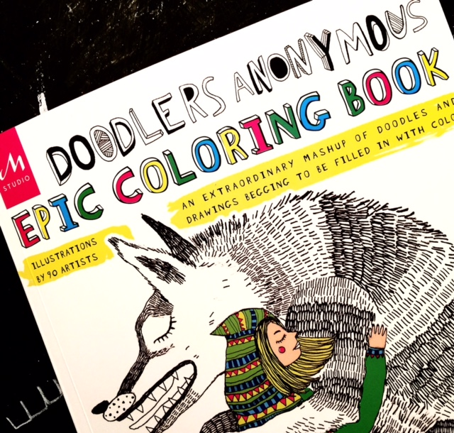 Color Pages From Doodlers Anonymous Epic Coloring Book