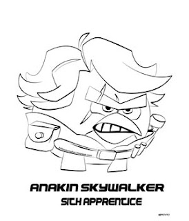 Angry Birds Star Wars 2 Anakin Coloring Pages