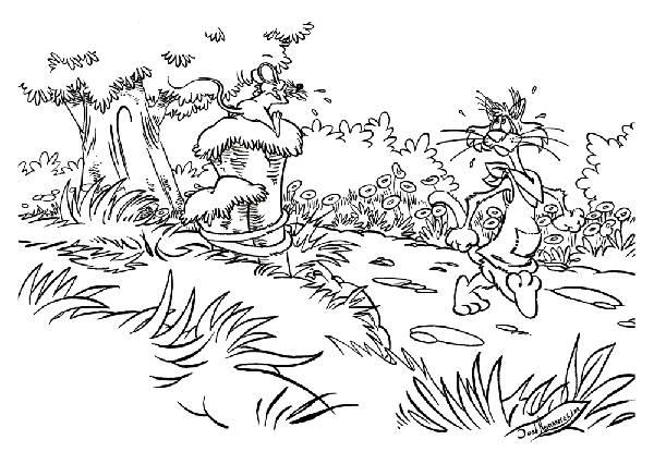 Desenhos Preto e Branco Animais da floresta reunidos para copiar Colorir