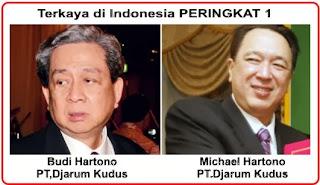 Orang terkaya di indonesia; R. Budi dan Michael Hartono