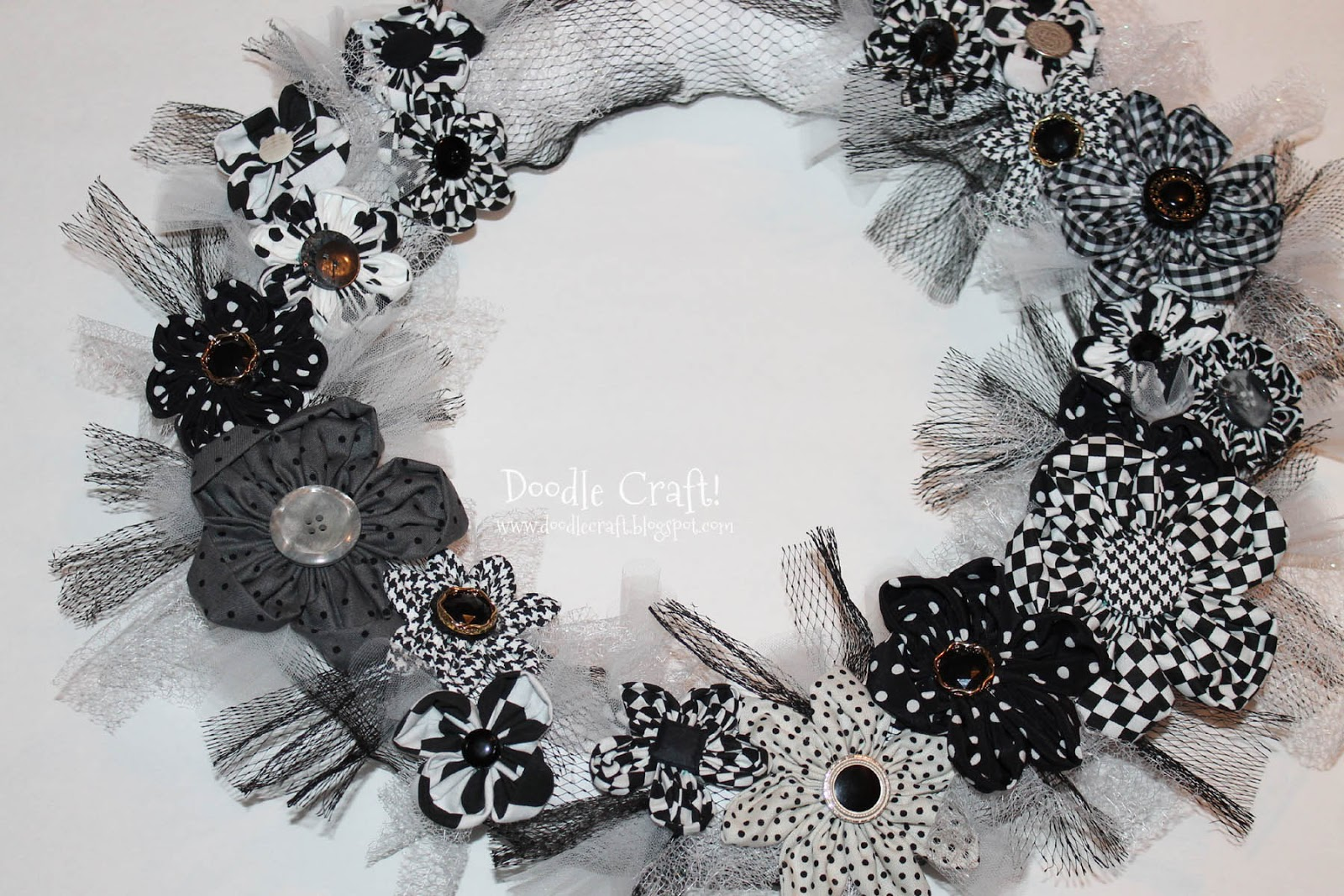 Black and white floral wreath stock vector image 65241515 - Doodlecraft Black And White Fabric Flower Wreath