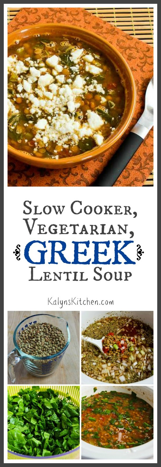 Slow Cooker Vegetarian Greek Lentil Soup With Tomatoes