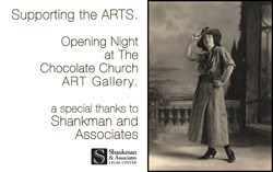 Gallery Opening Night Sponsor. Shankman & Associates