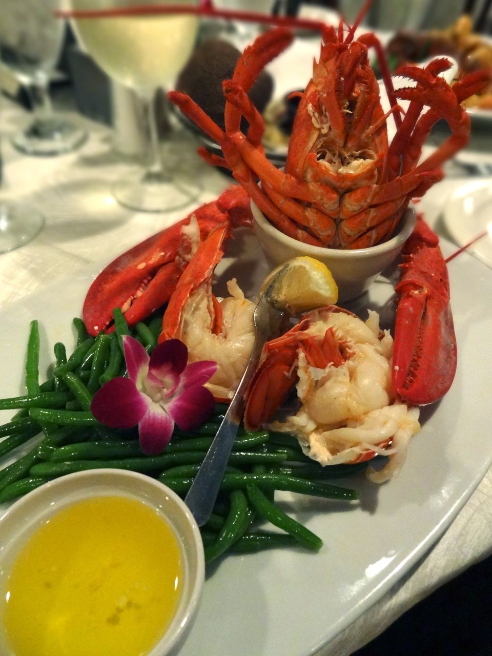 Steamed Maine Lobster with drawn butter