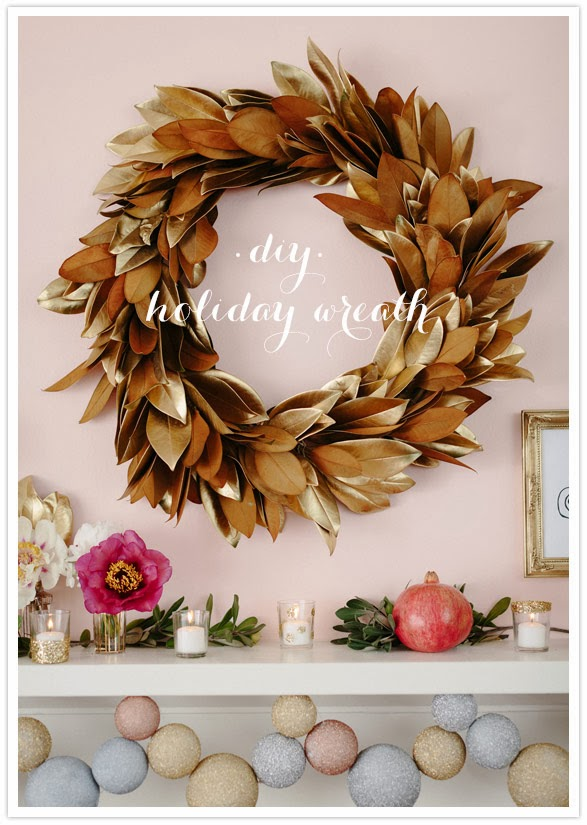 Gold Eucalyptus Christmas Wreath from FrySauceandGrits.com