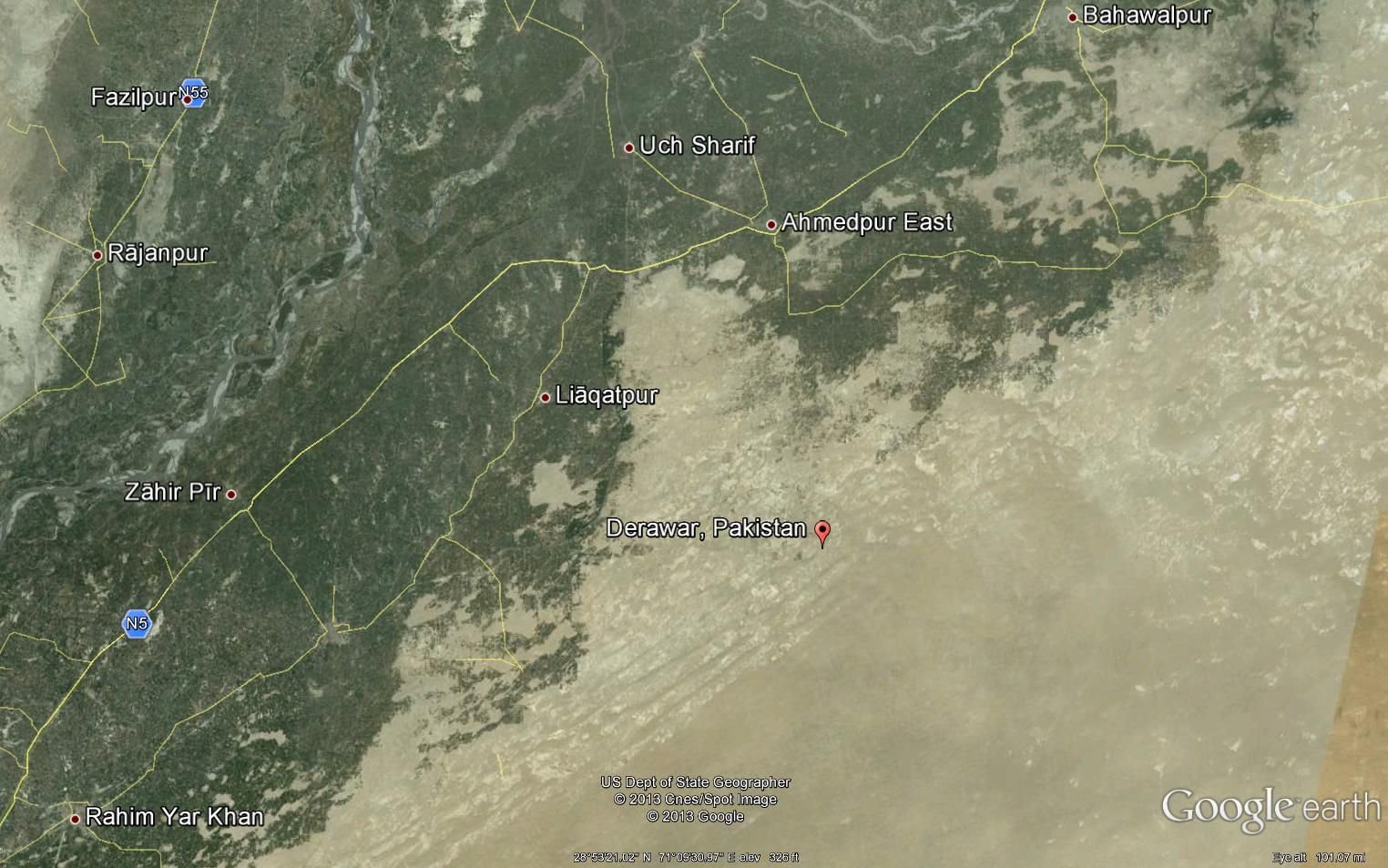 Bahawalpur Map Google