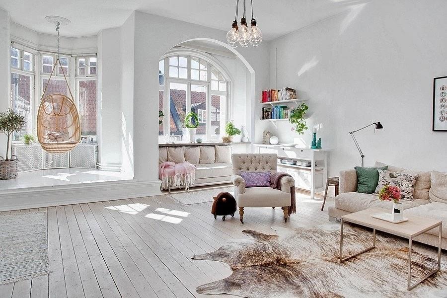 Una casa nórdica y bohemia
