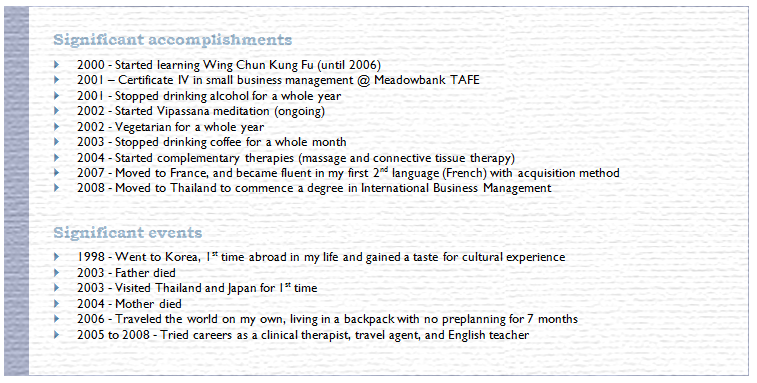 how to list accomplishments on resume