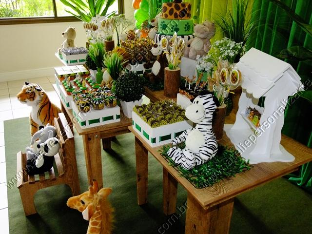 decoracao festa safari:Decoração de festa infantil Safári / Floresta / Selva em Porto