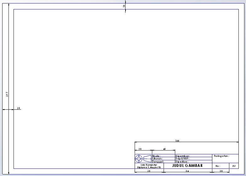 solidworks drawing template tutorial - membuat template drawing pada solidworks laboratorium