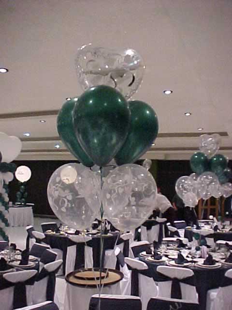 Centro de mesa globos con helio - Centros de boda ...