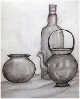 Still life by pencil drawing