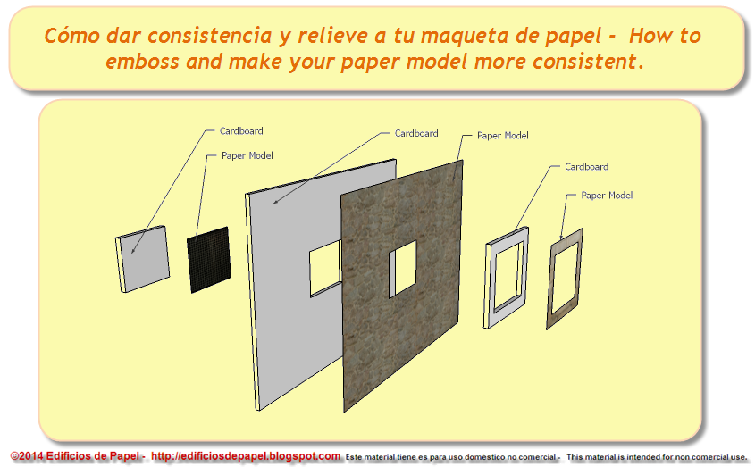 Paper and cardboard to build up your model