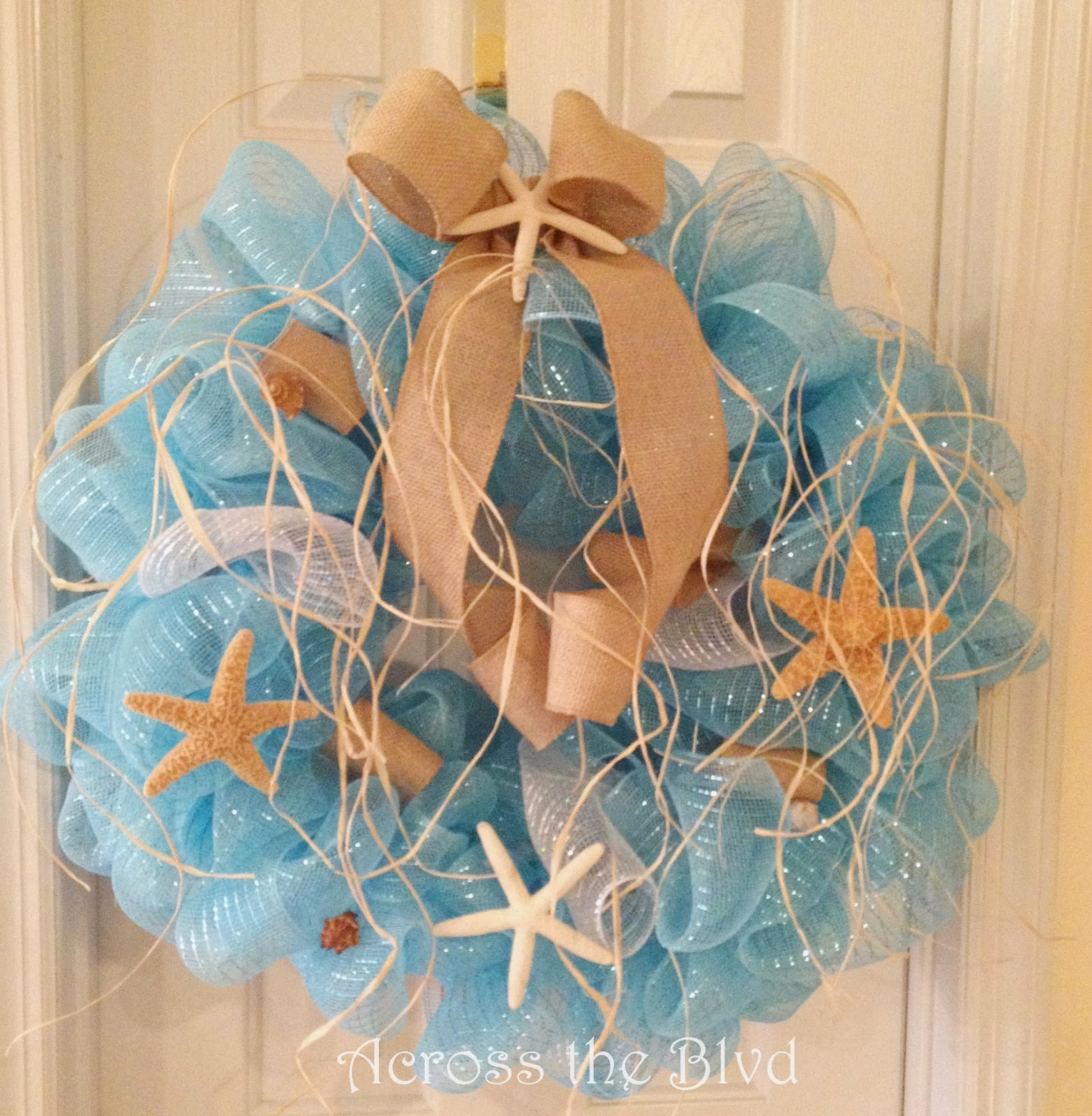 Coastal Wreath Deco Mesh