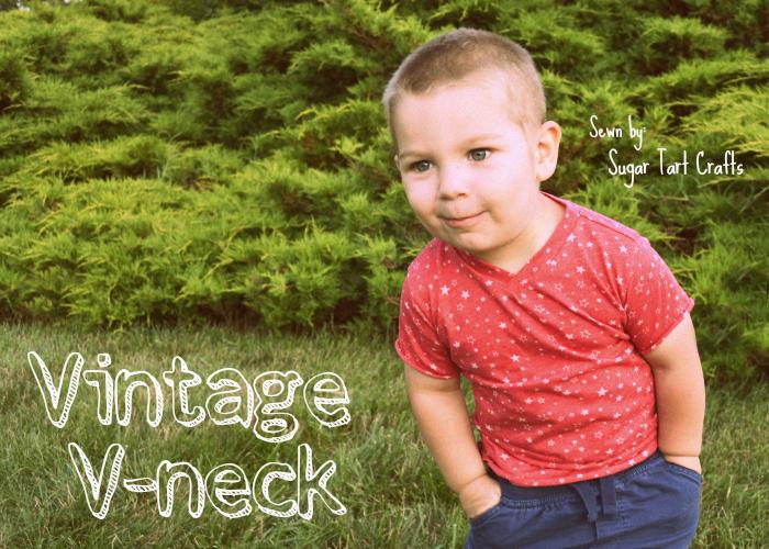 Vintage V-neck designed by Blank Slate Patterns, sewn by Sugar Tart Crafts