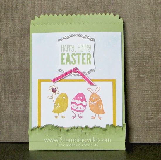 For Peeps Sake Mini Treat Bag for Easter. So cute! #papercrafts #Easter #StampinUp