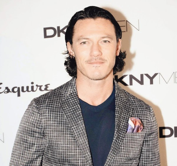 George Craig and Luke Evans London² hand rolled silk pocket square by Jason Hawkes London Collections: Men SS2015 Superdry Party DKNY Esquire Party