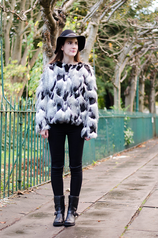 Morton DUO Boots and Next Patch Faux Fur Jacket! | The Style Rawr