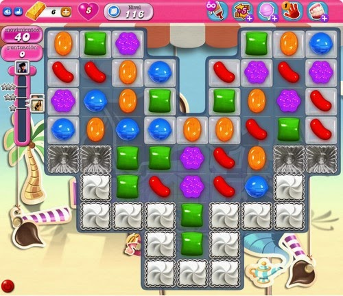 Nivel 116 de Candy Crush Saga