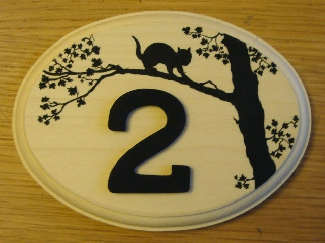 House Sign Wood Hand Painted1