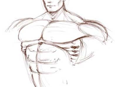 How to draw a superhero body tutorial