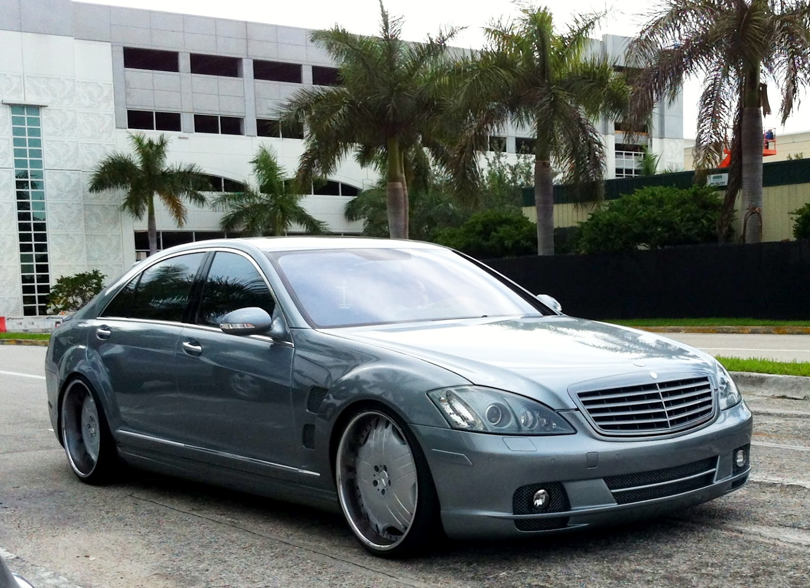 Blue gray customized s class mercedes benz exotic cars for Mercedes benz south miami