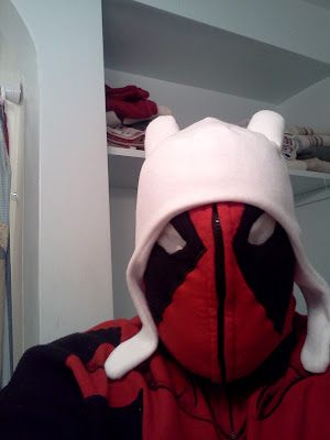 Deadpool wearing Finn's hat
