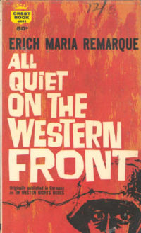 an analysis of all quiet on the western fron by erich maria remarque Need help with chapter 2 in erich maria remarque's all quiet on the western front check out our revolutionary side-by-side summary and analysis all quiet on the western front chapter 2 summary & analysis from litcharts | the creators of sparknotes.