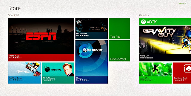 WINDOWS 8 APPLICATION IN THE WINDOWS STORE....
