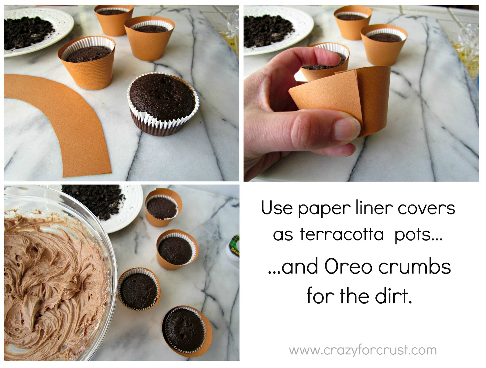 Flower Pot Cupcakes Crazy For Crust